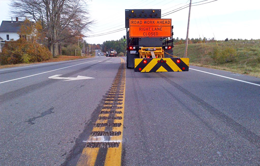 The Maine DOT's 2018 plan for safety upgrades includes installing more rumble strips in the dividing lines on dangerous roads.