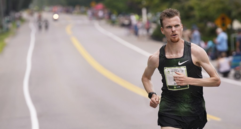 Jake Robertson had a commanding lead heading up Route 77.
