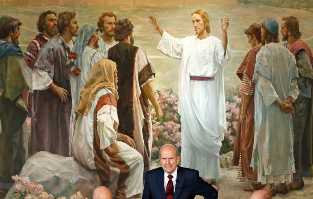 "Russell M. Nelson attends a news conference in Salt Lake City in January. The president of the church is asking people to refrain from using ""Mormon"" or ""LDS"" as a substitute for the full name: The Church of Jesus Christ of Latter-day Saints."