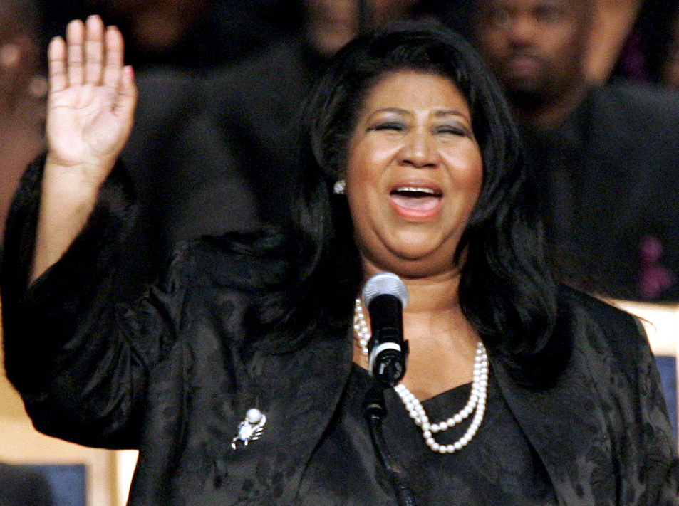 Aretha Franklin, shown in 2005, died Aug. 16 of pancreatic cancer at 76.