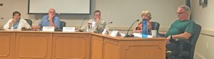 TOPSHAM SELECTMEN met Thursday, at which point they voted to outsource emergency medical service billing. CHRIS QUATTRUCCI/THE TIMES RECORD