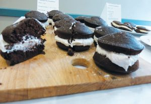 A BATCH OF CLASSIC WHOOPIE PIES await eating at the whoopie pie-making contest at Freeport Community Library on Wednesday. DARCIE MOORE / THE TIMES RECORD