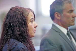 SHAWNA GATTO with her lawyer Philip Cohen in Lincoln County Superior Court in January. BEN MCCANNA / PORTLAND PRESS HERALD