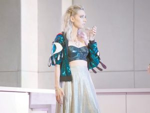 VANESSA KIRBY as Julie at the National Theatre. COURTESY OF RICHARD SMITH