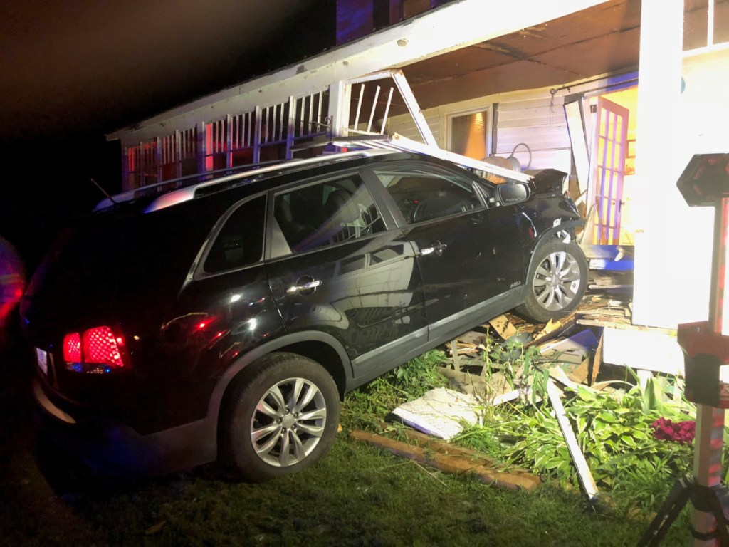 A Connecticut man was charged Sunday with operating under the influence after state police said he crashed his car into a house Sunday night in the Somerset County town of Detroit.