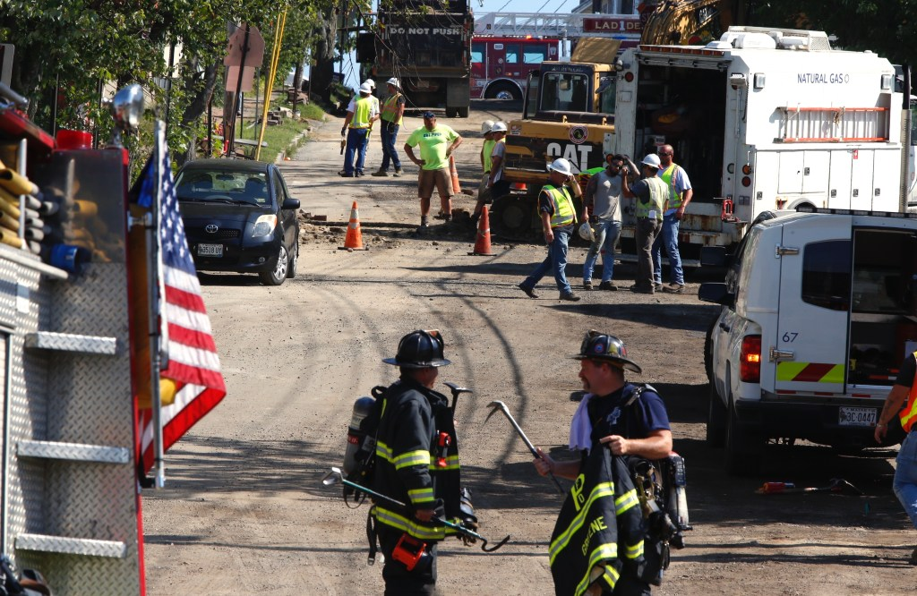 A report of a gas leak has closed a section of Walnut Street from Washington Avenue and North Street.