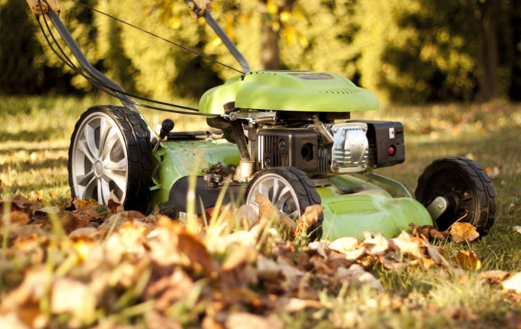 The easiest way to take care of autumn leaves that have fallen on your lawn is to mow with a mulching mower, then let the finely cut leaves decompose over the winter, providing nutrients to the lawn.