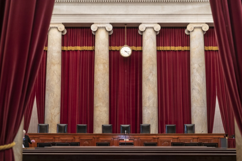 The Supreme Court sits empty on Sept. 21 in Washington. Brett Kavanaugh's fate remains uncertain, but some on the front lines of the Republican Party's midterm battlefield fear the Republicans might have already lost.