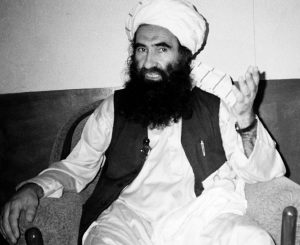 JALALUDDIN HAQQANI, founder of the militant group the Haqqani network, speaks during an interview in Miram Shah, Pakistan in August 1998. AP FILE PHOTO