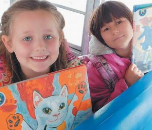 BOOKS ON THE BUS, which provides books for elementary school students in RSU1, has received a $5,500 Stephen and Tabitha King Foundation grant. NATHAN STROUT/ TIMES RECORDFILE PHOTO