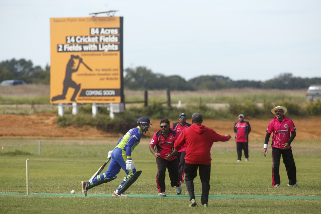 Competitive cricket made its debut this fall in Prairie View, Texas, where a major complex is planned. (Photo for The Washington Post by Michael Stravato)