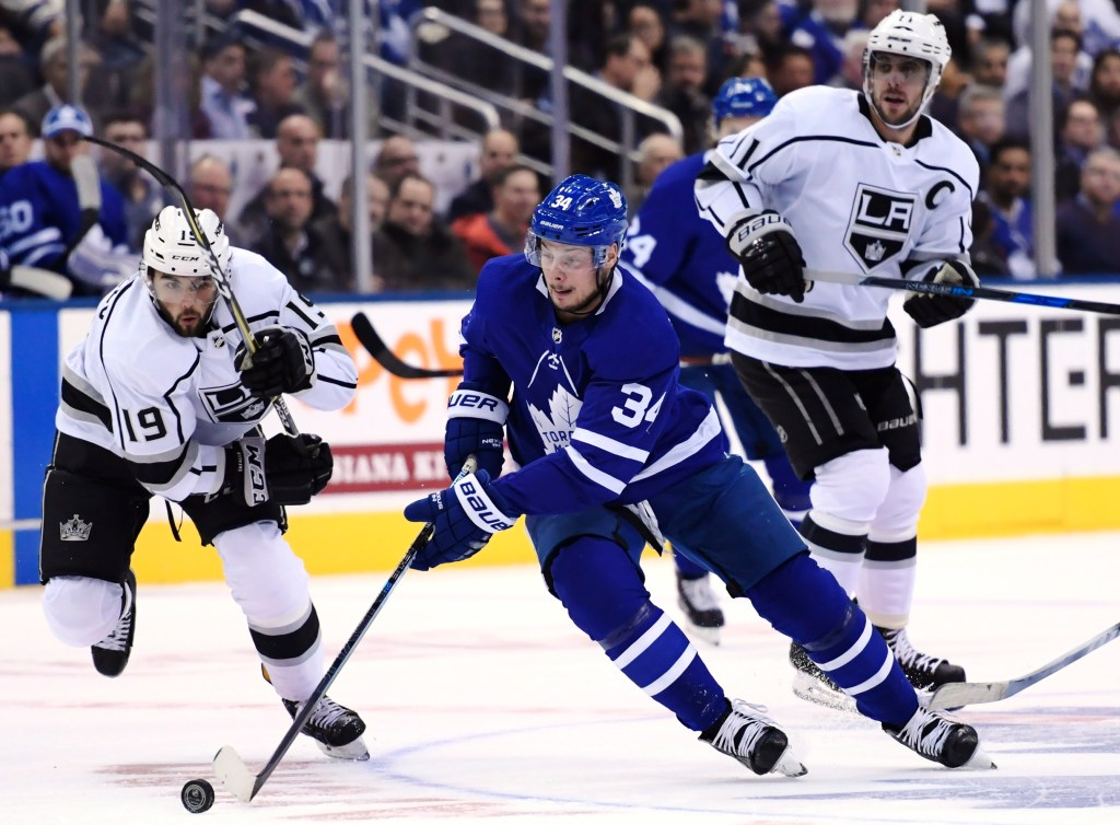 Toronto Maple Leafs center Auston Matthews is expected to miss at least four weeks because of a shoulder injury. The team says on Twitter the 21-year-old center will be placed on injured reserve Monday. Matthews was injured early in the second period Saturday, Oct. 27 during Toronto's 3-2 victory over Winnipeg.