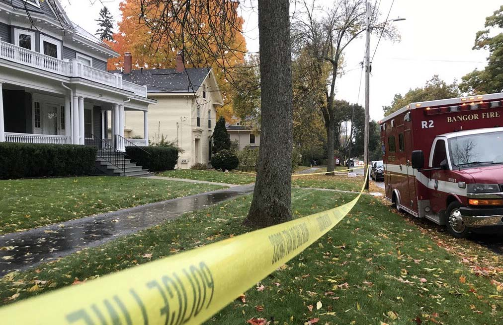 Police respond to the home of Maine Sen. Susan Collins in Bangor on Monday to investigate the delivery of a suspicious letter.