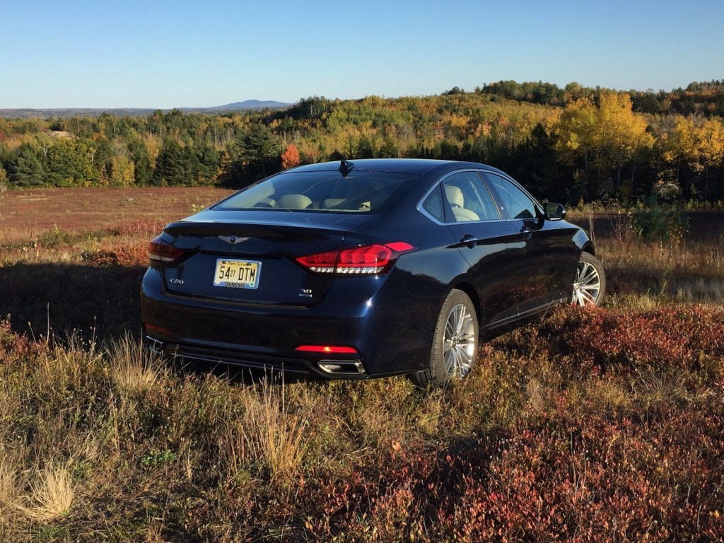 """The Genesis G80: """"Smooth and composed, although needing a diet at 4,500 pounds."""""""