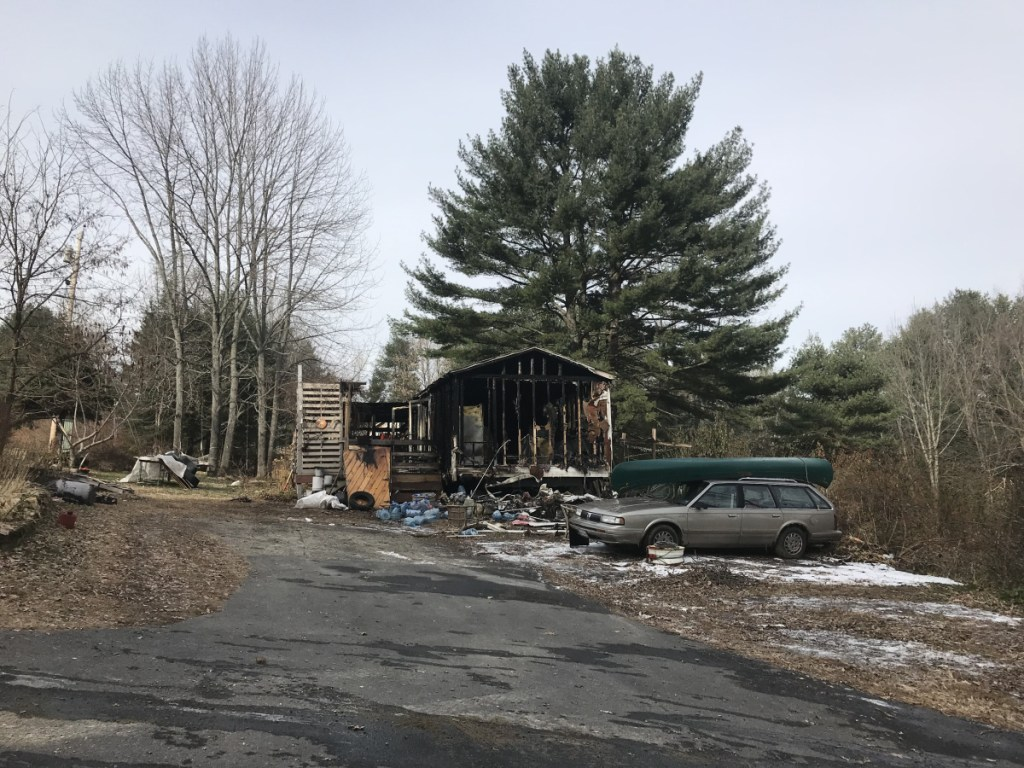 A mobile home on Warren Avenue in Gardiner was destroyed Wednesday night. Firefighters from six communities responded after a report of smoke shortly before 8 p.m.