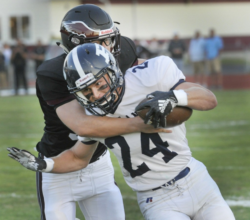 Portland's Zack Elowitch was the leading rusher in Class A North during the regular season.
