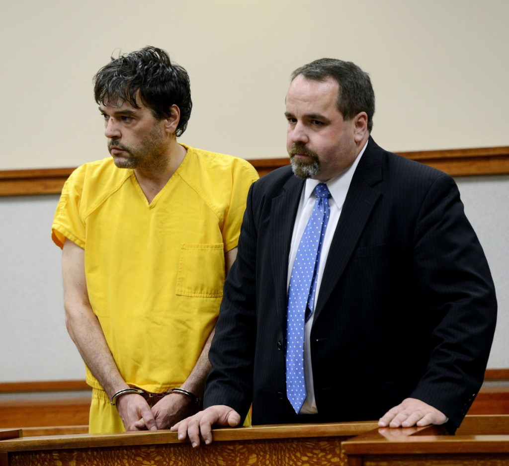 Andy Leighton, with his attorney, Robert LeBrasseur, in 2013. Leighton's death at the Maine State Prison on Oct. 1 was an unforgivable case of staff neglect, a reader writes.