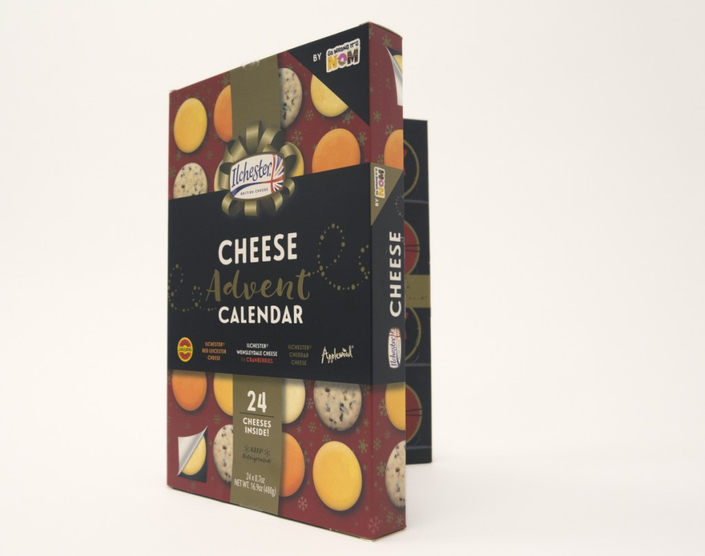 Newly available Advent calendars, like this one from England's Ilchester Cheese Co., are filled with treats adults might like.