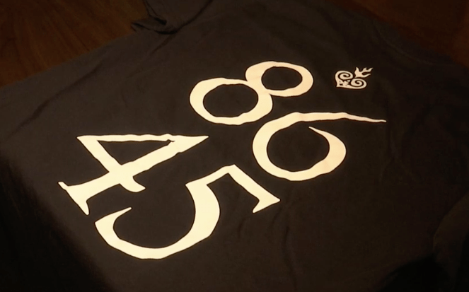 """Staff at Amigos Taqueria in Westerly, Rhode Island, wore these """"86 45"""" shirts to protest Donald Trump's presidency."""