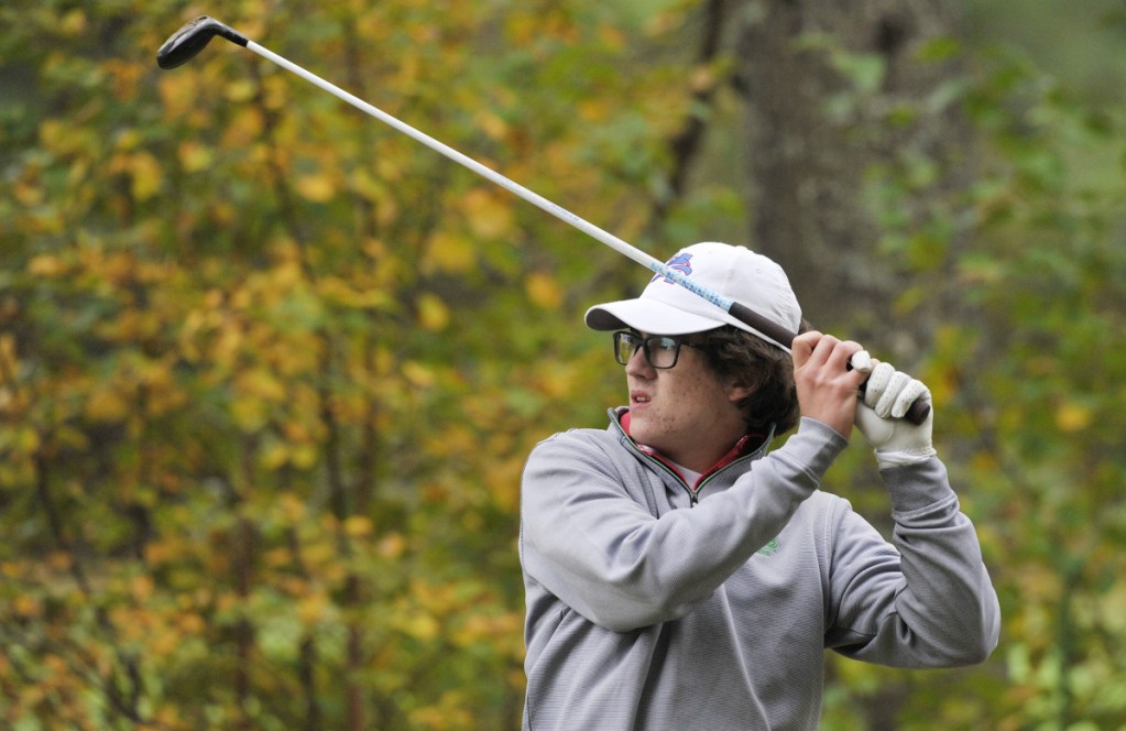Caleb Manuel of Mt. Ararat was unbeaten all season, led his team to the state championship, then shot a 69 under less-than-perfect weather conditions to become the individual state champion this fall.