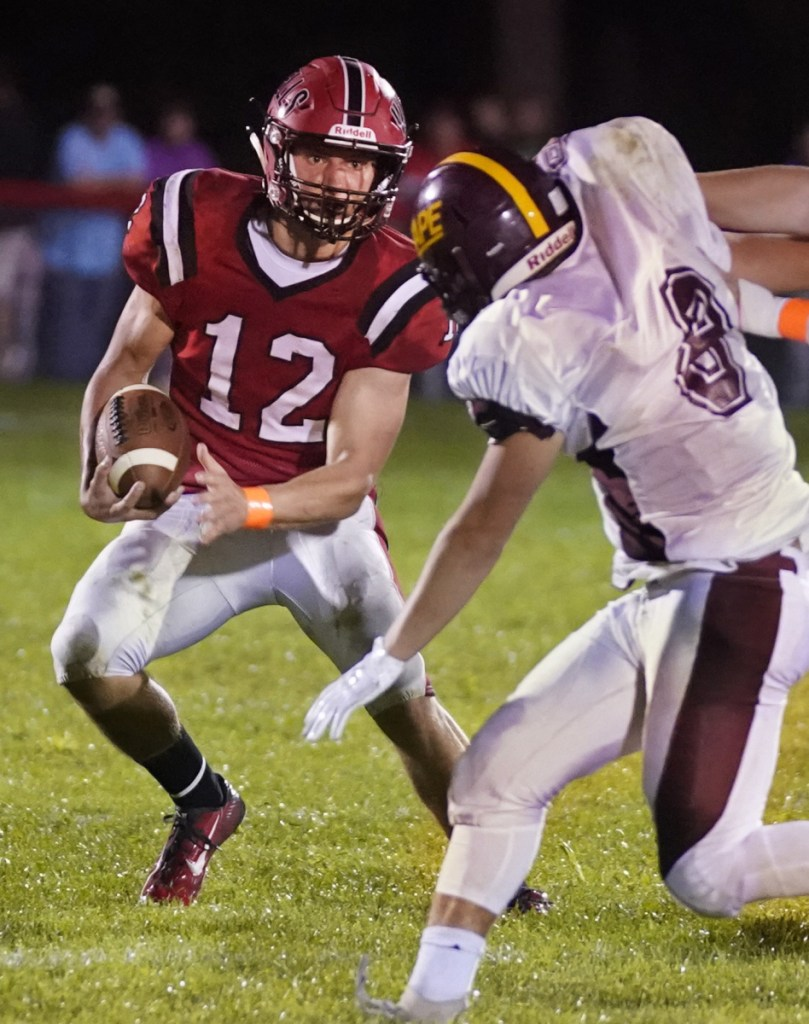 Tyler Bridge of Wells compiled more than 3,000 all-purpose yards this season and averaged almost four touchdowns per game.