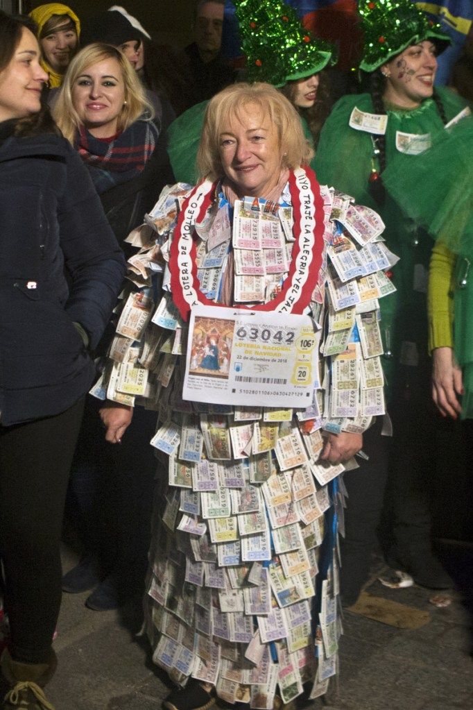 """Spain's Christmas lottery, known as El Gordo, or """"The Fat One,"""" dished out $2.7 billion in prize money this year."""