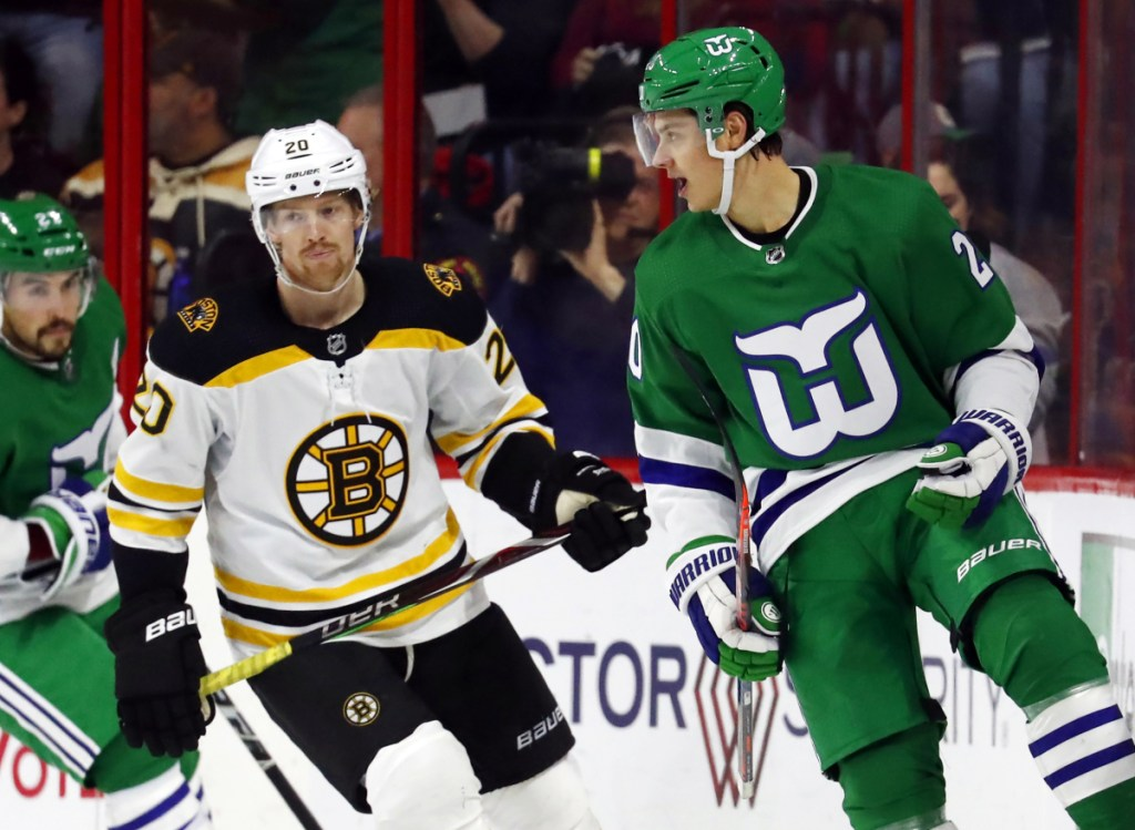 new product 0ae75 d0e75 Hurricanes charge past Bruins - Portland Press Herald