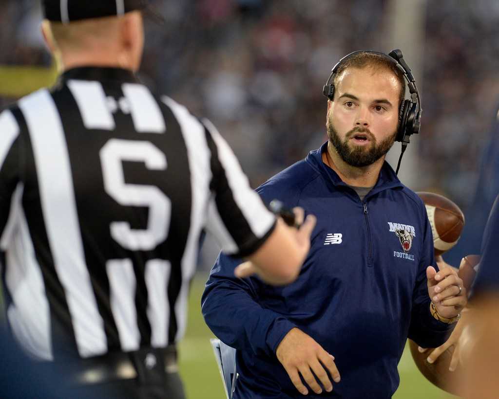 UMaine Coach Joe Harasymiak and his staff have had to adjust their recruiting strategy because of the team's success in the playoffs. He doesn't mind.