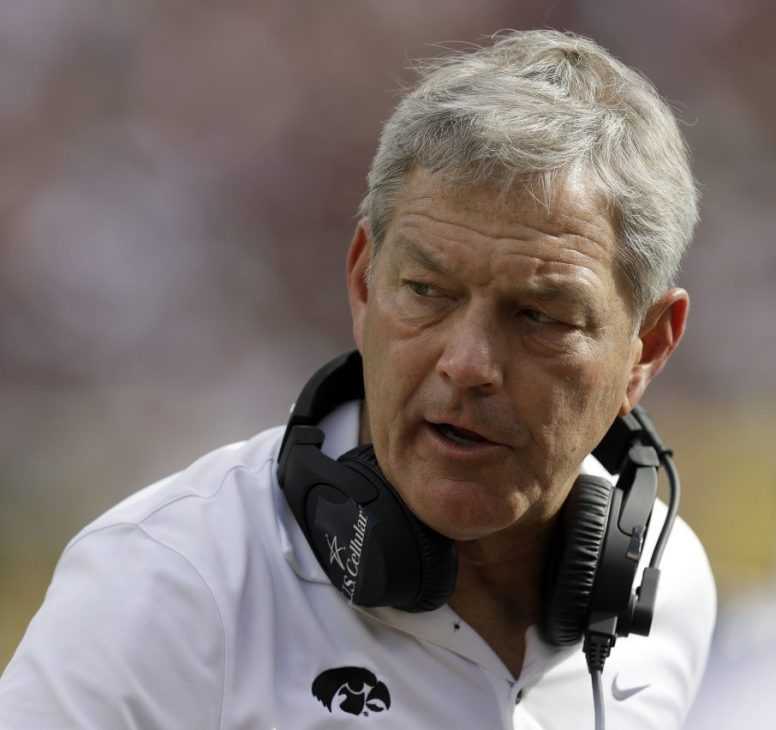 Iowa Coach Kirk Ferentz looks on in the second half of the Outback Bowl against Mississippi State on Tuesday in Tampa, Fla.