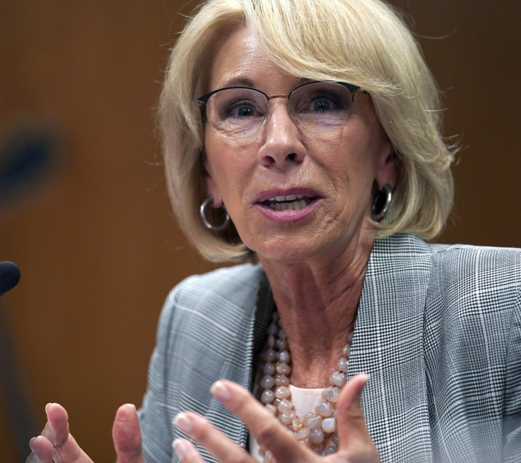 Betsy DeVos had surgery to repair a broken bone suffered in a cycling accident.