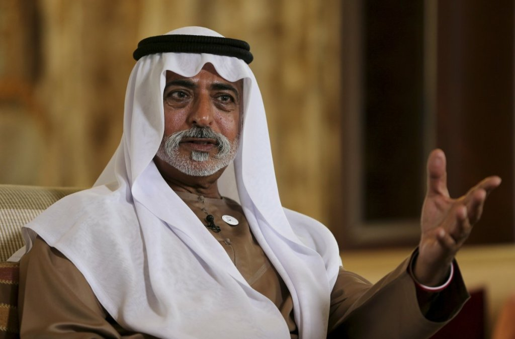 Sheikh Nahyan bin Mubarak Al Nahyan, the UAE Minister of Tolerance, gives an interview in Abu Dhabi, United Arab Emirates, on Thursday.