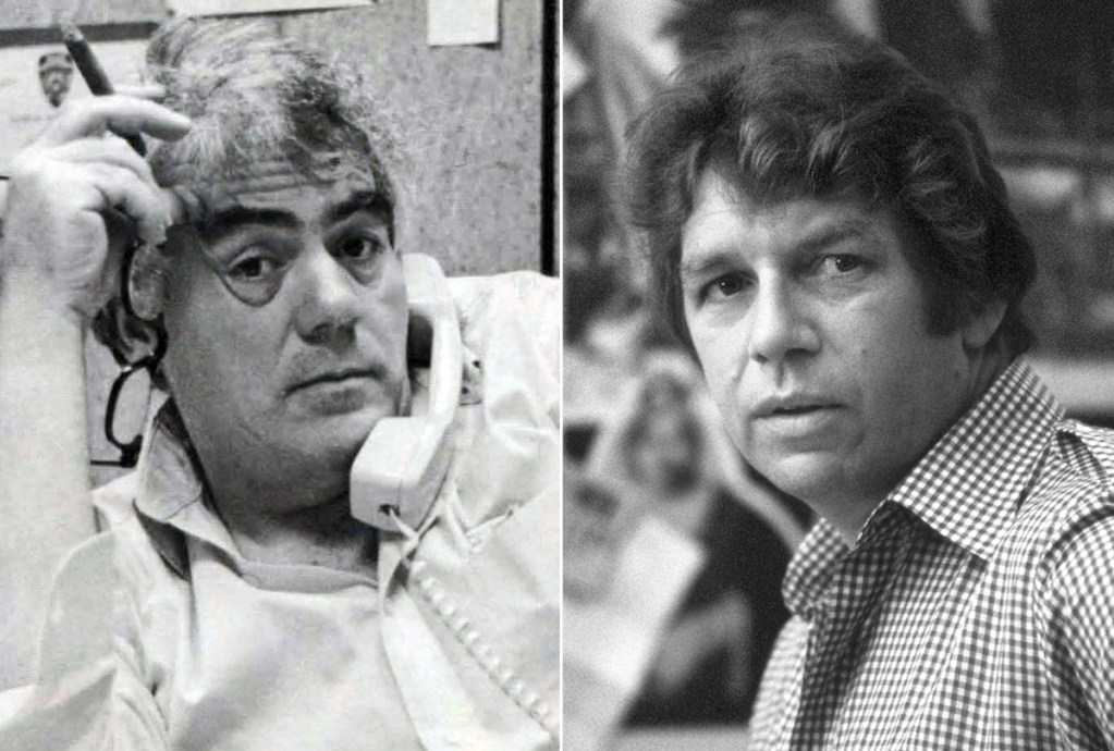 Jimmy Breslin, left, and Pete Hamill are the focus of an HBO film.