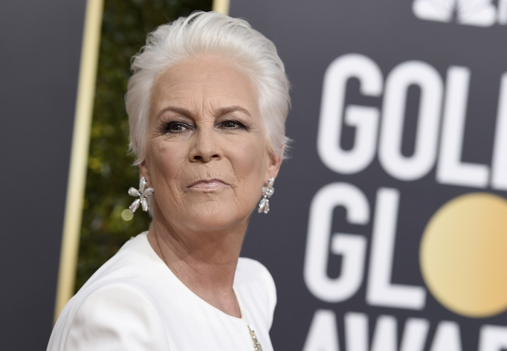 Jamie Lee Curtis is working to tell the story of an Oklahoma City woman whose pledge to stand in as a mom at same-sex weddings went viral. Curtis says she is working on a deal to get Sara Cunningham's story onscreen.