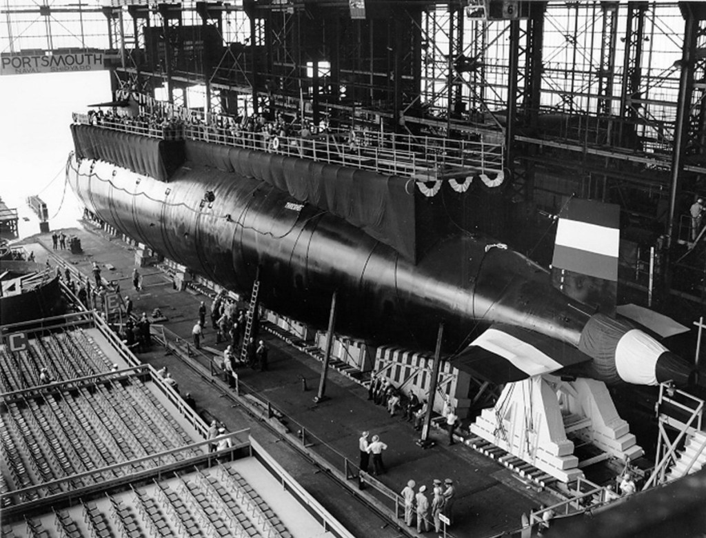 The USS Thresher before its launch.