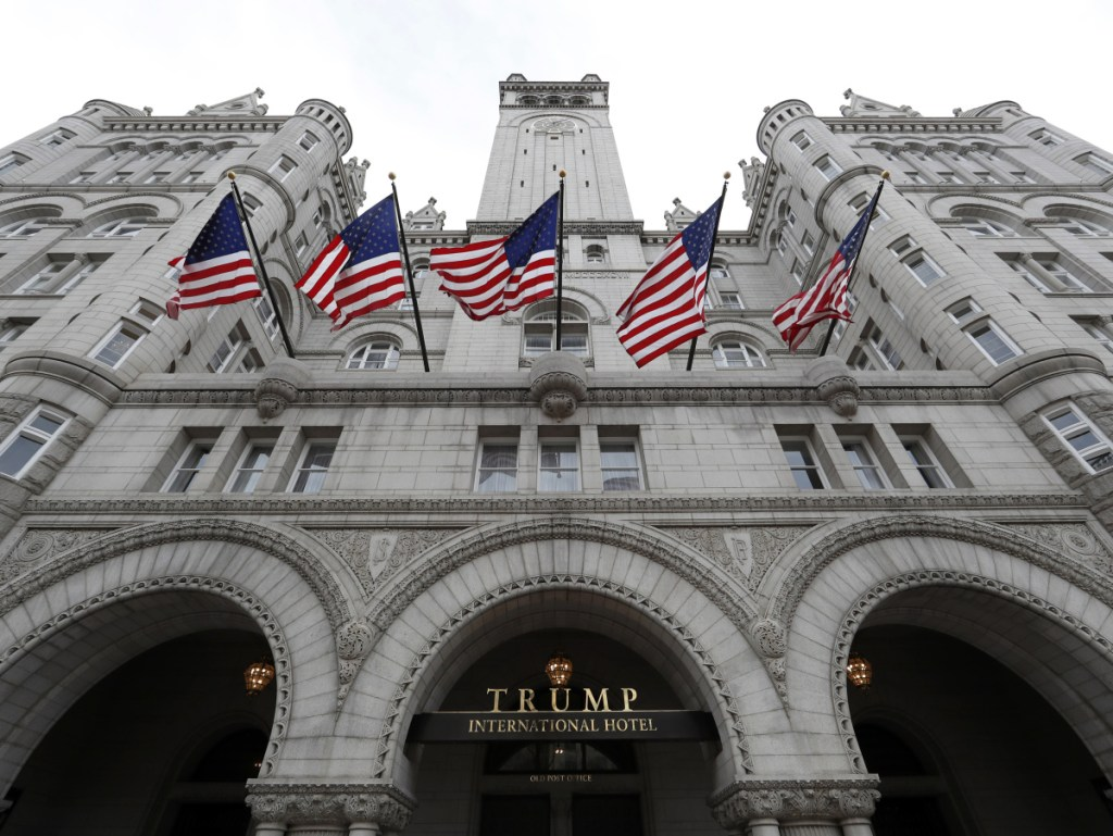 Stays by former Maine Gov. Paul LePage and his staff at the Trump International Hotel in Washington have already drawn legal scrutiny as a federal lawsuit examines alleged violations of the Constitution's emoluments clause.
