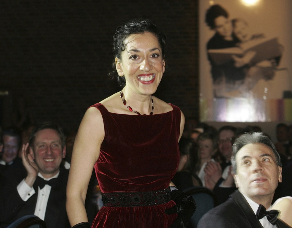 """Andrea Levy, shown in 2005, was best known for """"Small Island,"""" the story of two couples whose lives intertwine in London after World War II."""