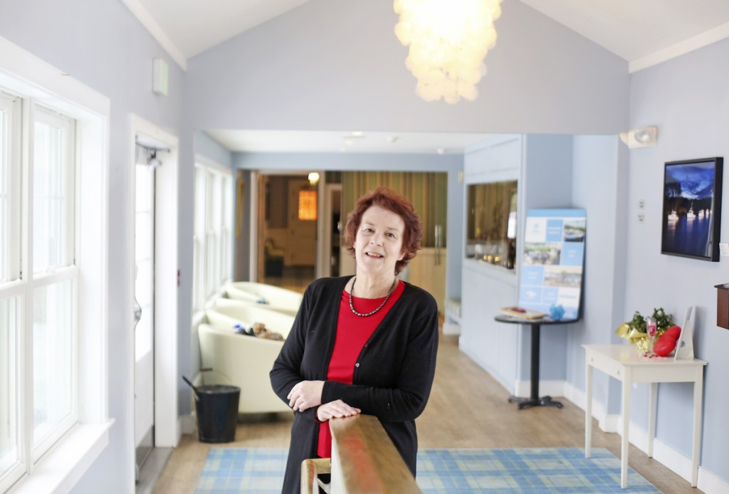 Leanne Travers works seasonally at the Breakwater Inn in Kennebunkport. She is one of many older workers who have been hired into the hospitality industry in the Kennebunk area as it struggles with chronic labor shortages.