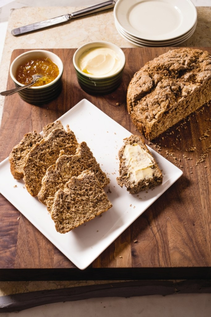 Irish brown soda bread needs to cool one hour before you can eat it.