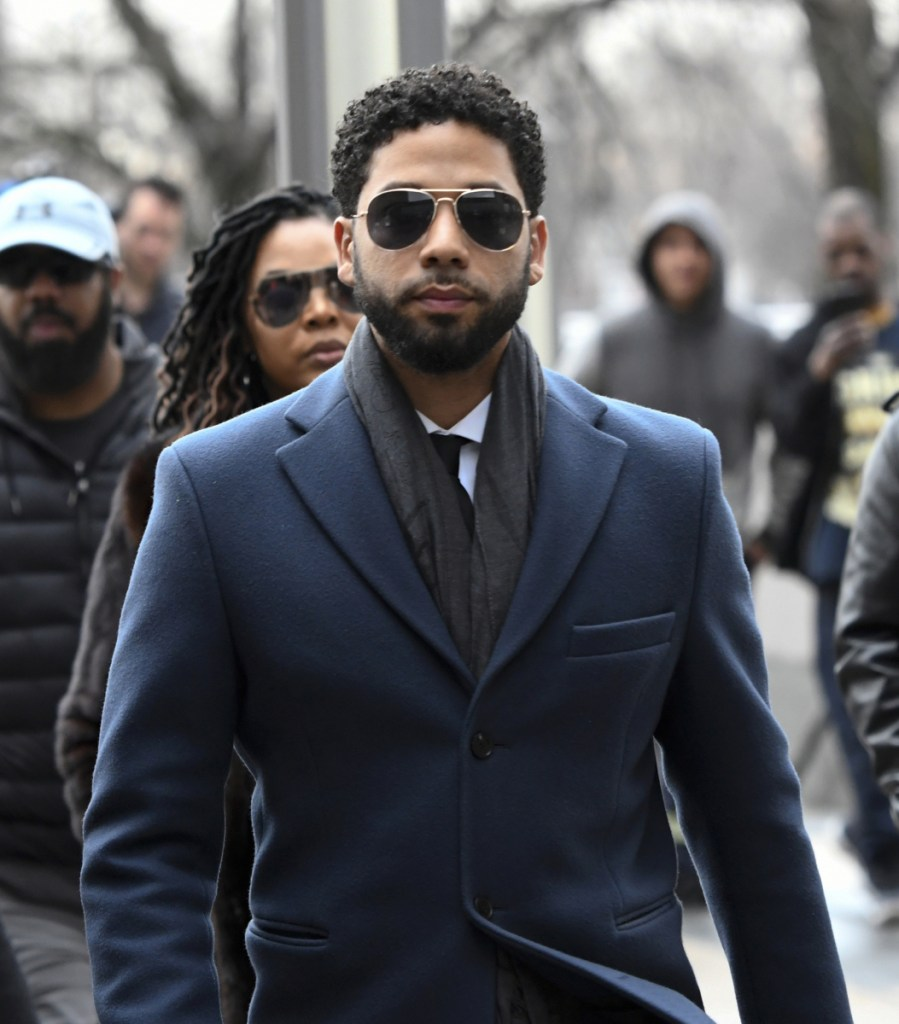 Jussie Smollett arrives at the Leighton Criminal Court Building for his hearing on Thursday in Chicago.