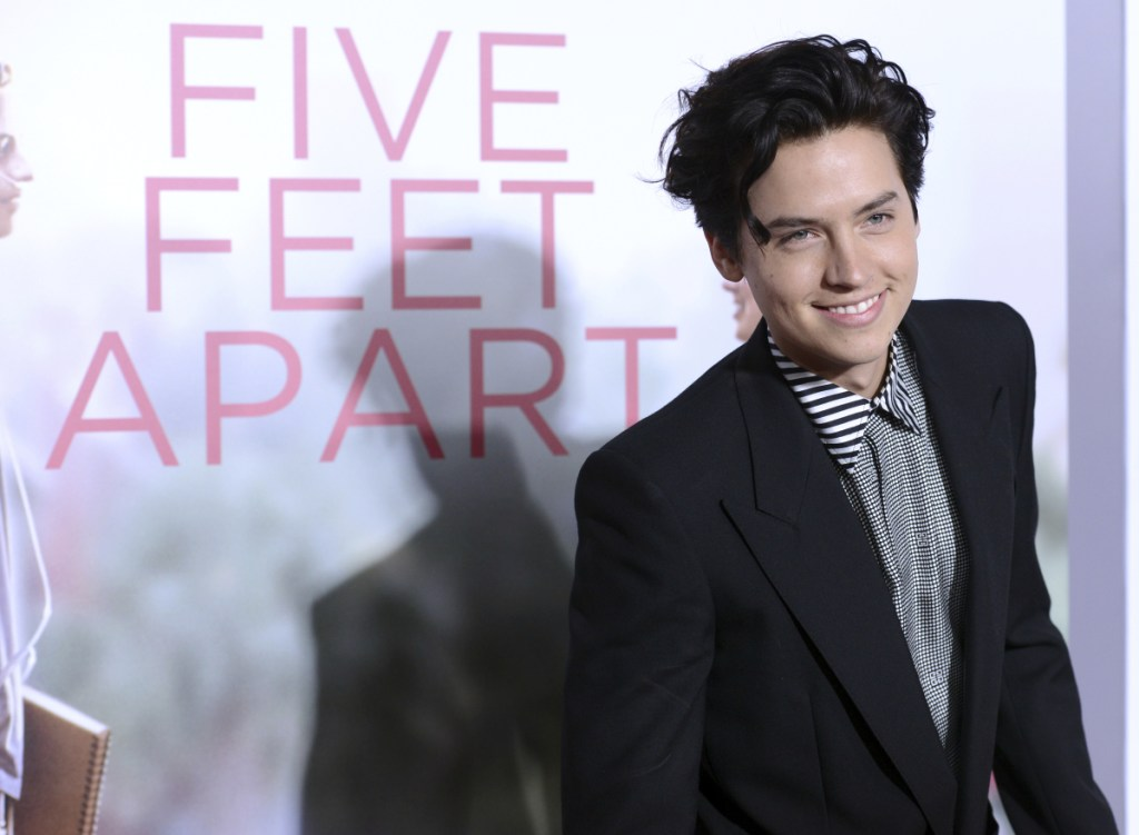 "Cole Sprouse arrives at the Los Angeles premiere of ""Five Feet Apart."""