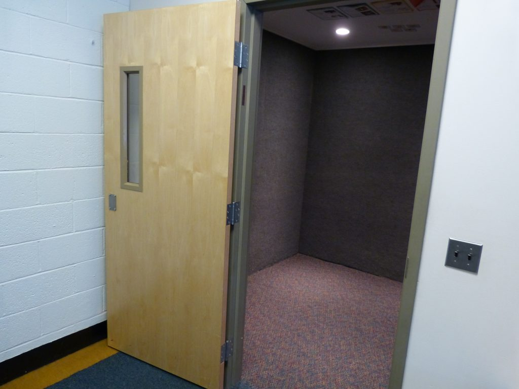 "The seclusion room, also called the ""quiet"" room, at Harpswell Community School."