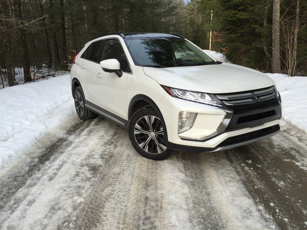 """""""The Eclipse Cross stands out visually from its rivals."""" Photo by Tim Plouff."""