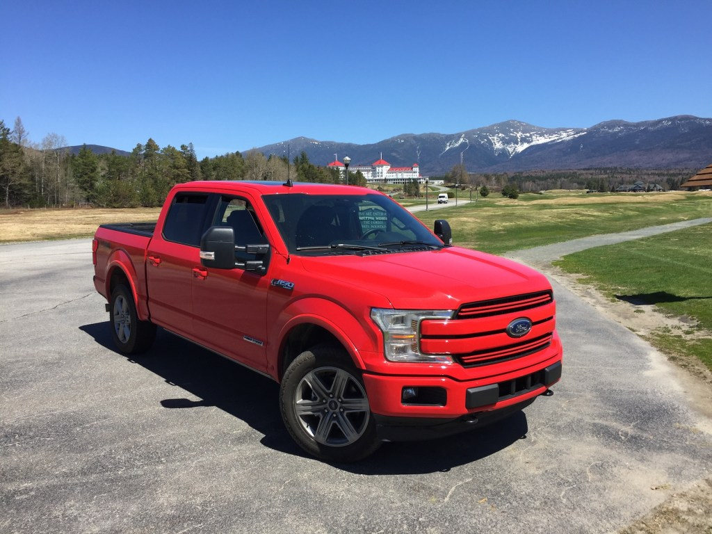 Ford's innovations have helped the automaker  increase its dominance in the pickup category that it has led for 41 straight years. Photo by Tim Plouff. Location: Mount Washington.