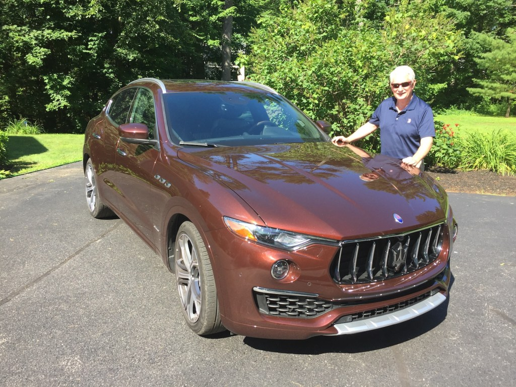 "Bill Green of ""Bill Green's Maine"" drives as many as 50,000 miles a year around the state, but not in a Maserati, as a rule. Photo by Tim Plouff. Location: Cumberland."