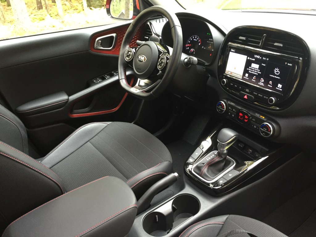 Interior material choices and presentation felt more premium than other compact cars to our reviewer.