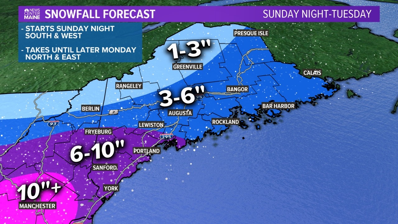 Winter storm to arrive Sunday afternoon, bringing snow, rain, sleet