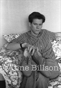 Kevin Bacon, actor. London, 1984.