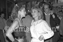 Madonna, musician, & Rosanna Arquette, actor. New York, 1983.