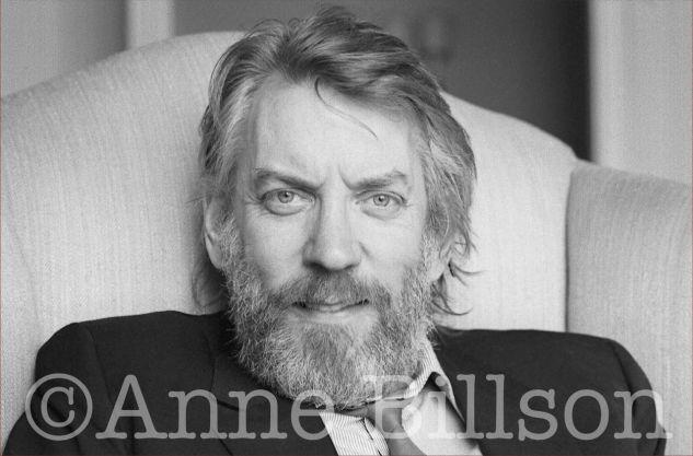Donald Sutherland, actor. London, 1985.