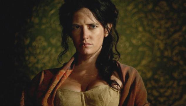 """Scarred survivor: Eva Green as """"Madelaine"""" in The Salvation (2014)"""